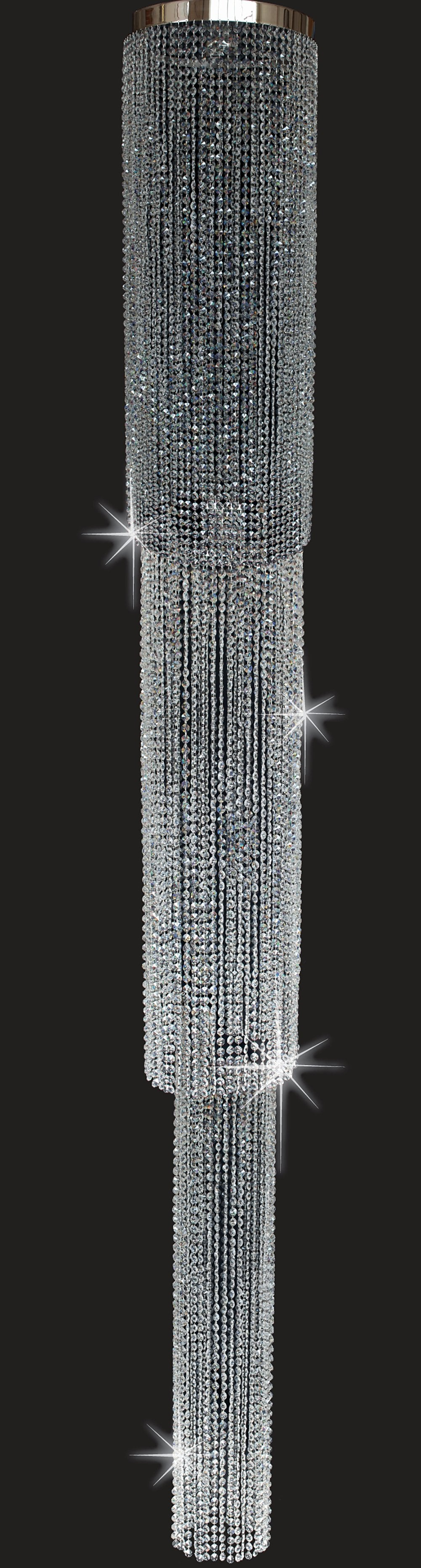 Forestdale Tripple Tiered 3 Metre Crystal Chandelier - ID 8100