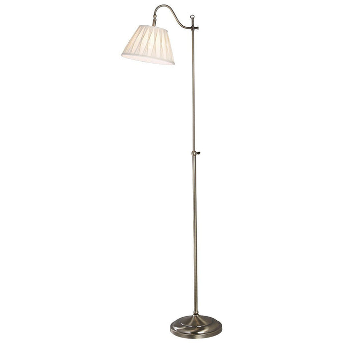 Suffolk Antique Brass Rise & Fall Floor Lamp - London Lighting - 1