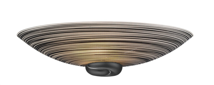 Swirl Black Glass Wall Uplighter - London Lighting - 1