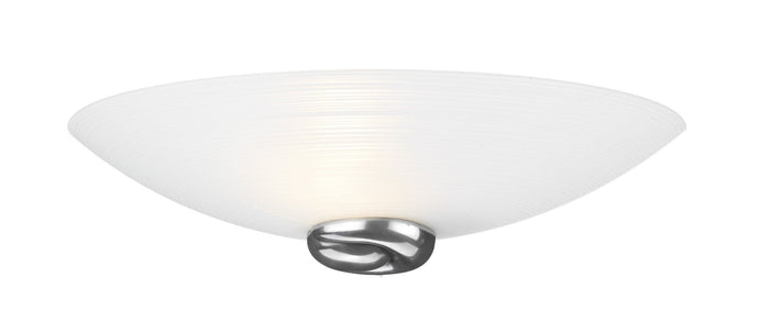 Swirl Pewter Glass Wall Uplighter - London Lighting - 1