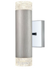 Stepton Brushed Satin Nickel & Textured Glass Twin Up & Down Light - ID 10639