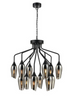 Bexley Angle Cut Smoked Glass 12 Light Chandelier - ID 10643