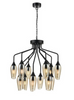 Bexley Angle Cut Cognac Coloured Glass 12 Light Chandelier - ID 10649