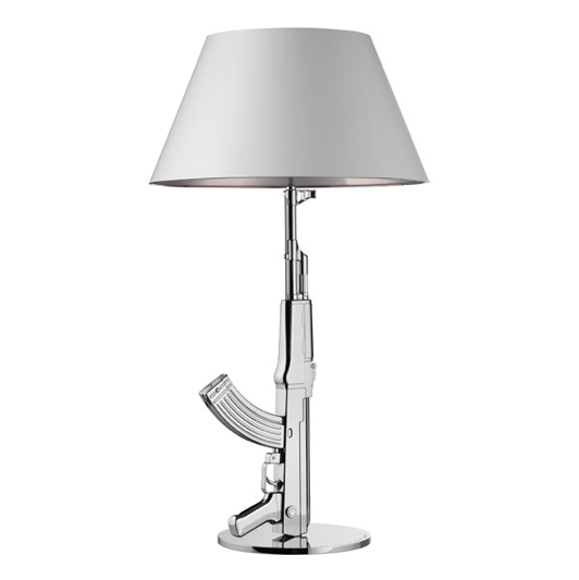 FLOS Table Gun Chrome/Grey - London Lighting - 1