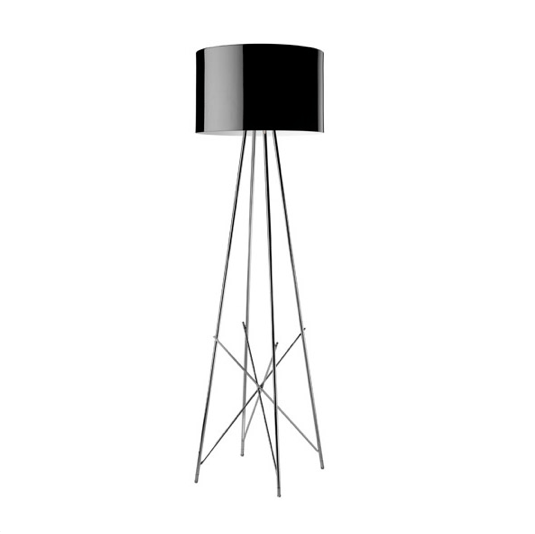 FLOS Ray F1 Small Floor Lamp  - Black Metal - London Lighting - 1