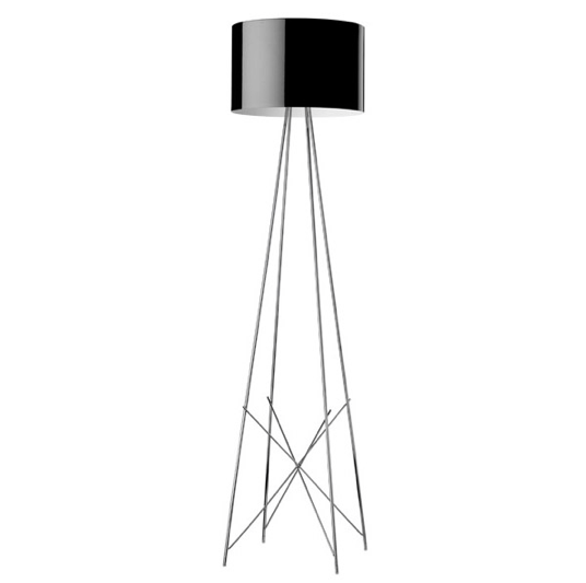 FLOS Ray F2 Large Floor Lamp  - Black Metal - London Lighting - 1