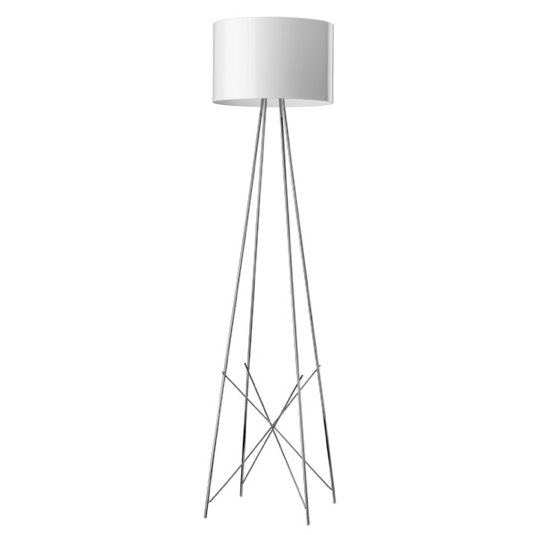 FLOS Ray F2 Large Floor Lamp  - White Metal - London Lighting - 1