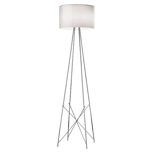 FLOS Ray F2 Large Floor Lamp  - Grey Glass - London Lighting - 1
