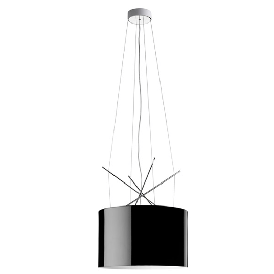 FLOS Ray S Black Metal Suspension - London Lighting - 1