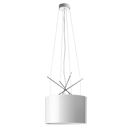 FLOS Ray S White Metal Suspension - London Lighting - 1