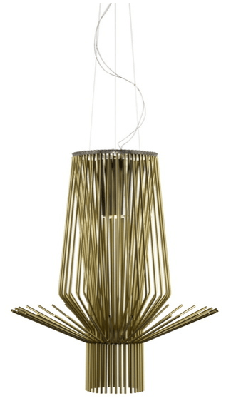 Foscarini Allegretto Assai Suspension Gold - London Lighting - 1