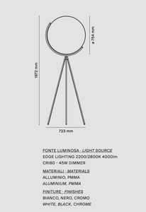 Flos Superloon Floor Lamp - London Lighting - 2