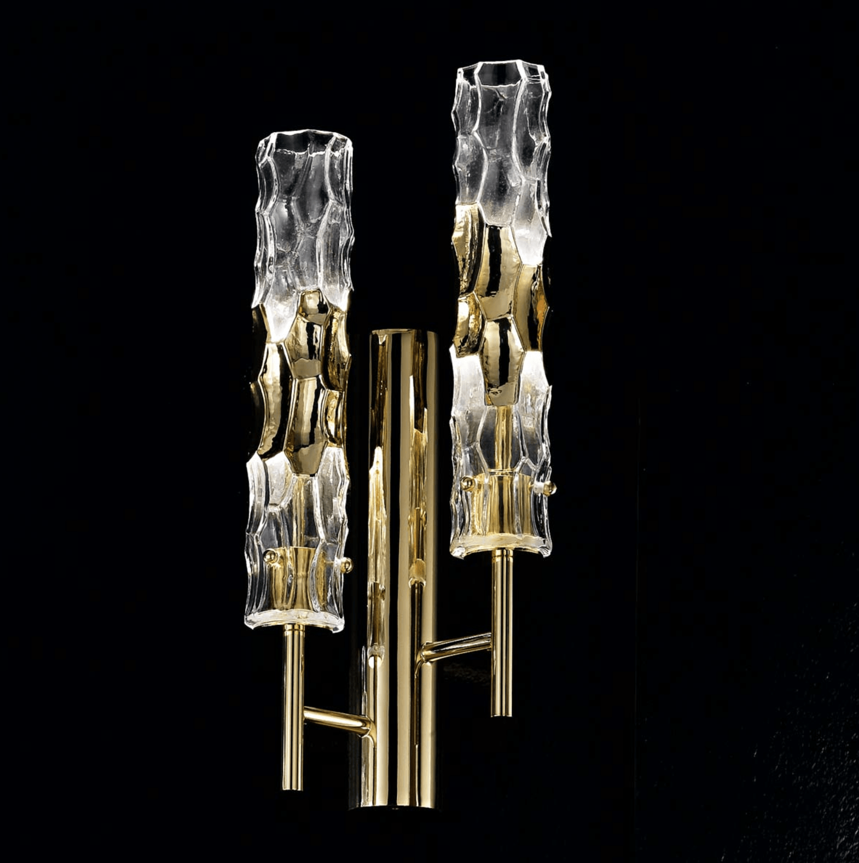 Bamboo Murano Glass Double Wall Light