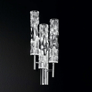 Bamboo Murano Glass Triple Light Wall Light