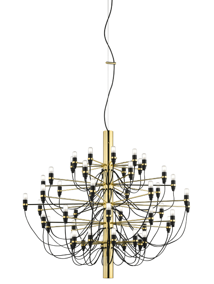 FLOS 2097/50 Suspension In Polished Brass With Frosted LED Bulbs Included - ID 9900