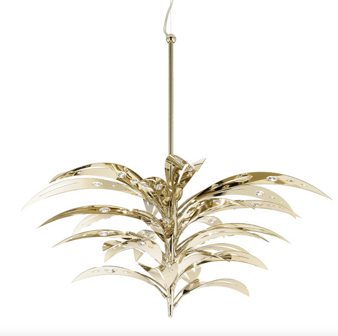 Crystal Palm 18 Light Pendant