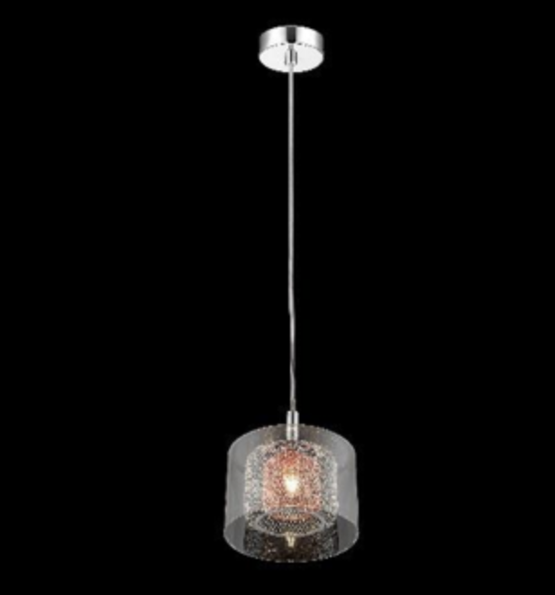 Eastcote Polished Chrome and Copper Single Pendant - ID 6402