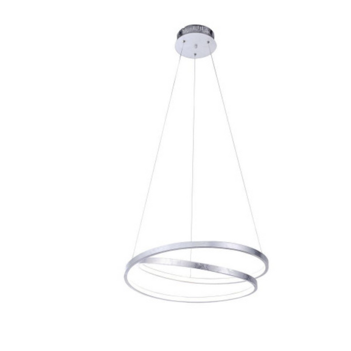 Silver Spiral LED Pendant Light - ID 6499