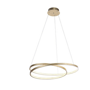 Large Gold Spiral LED Pendant Light - ID 7025