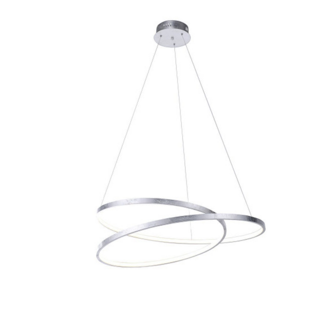 Large Silver Spiral LED Pendant Light - ID 6498