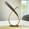 Curved Steel Table Lamp In Rust Finish - ID 6773