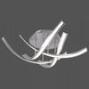 Curved Steel Large Ceiling Lamp In Stainless Steel Finish - ID 6501