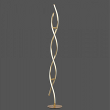 Elegant LED Floor Lamp In Gold Leaf Finish - ID 7043