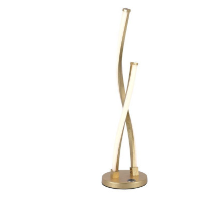 Elegant LED Table touch Lamp In Gold Leaf Finish - ID 7046