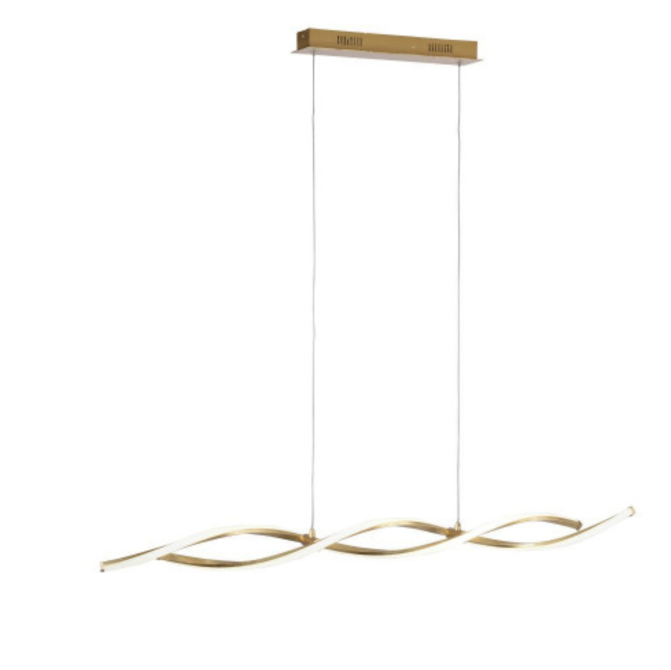 Entwined Steal Pendant Lamp In Gold Leaf Finish - ID 7038