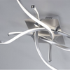 Four Arm Twisted Ceiling Lamp In Stainless Steel Finish - ID 7041