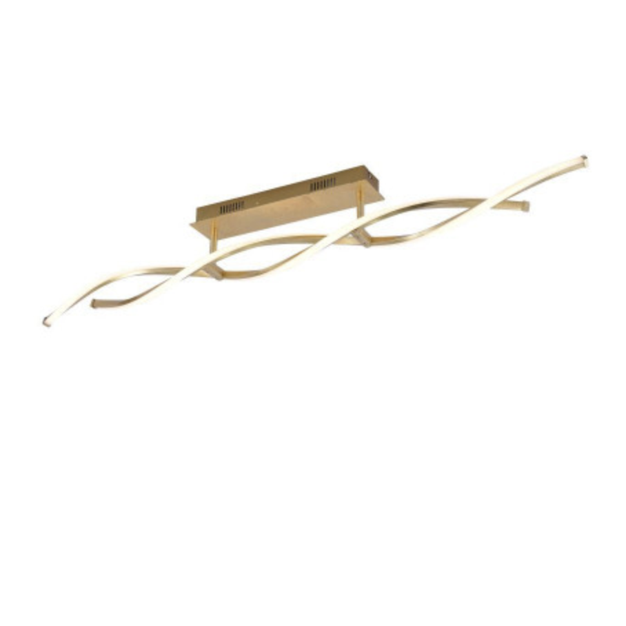Entwined Steal Ceiling Lamp In Gold Leaf Finish - ID 7040
