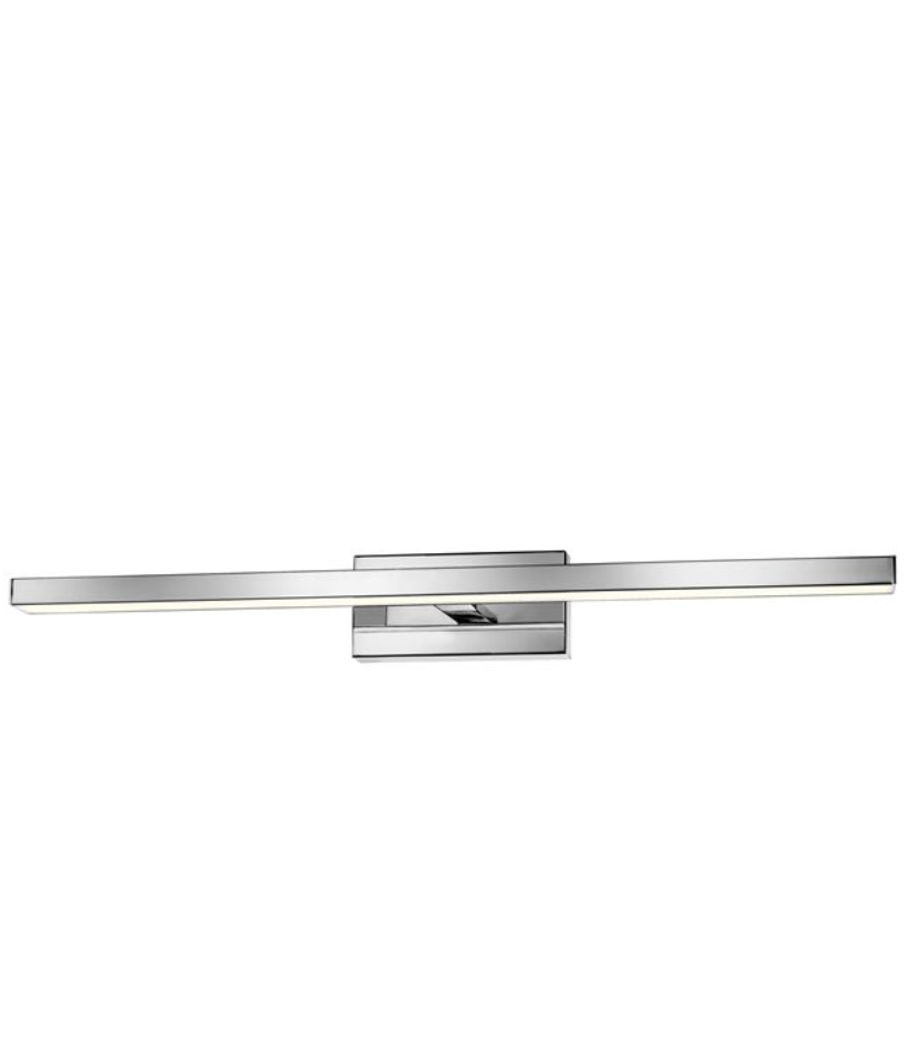 Brin 63 cm Large Chrome Single Arm LED Bathroom Wall Light - ID 7128