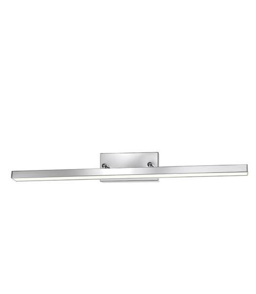 63cm Large Chrome Double Arm LED Bathroom Wall Light - ID 7129