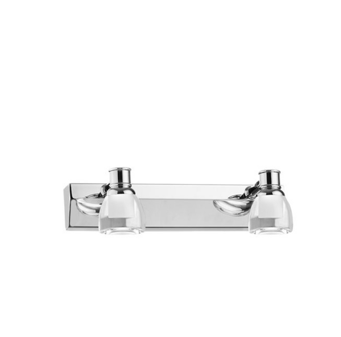 Chrome & Crystal 2 Lamp Bathroom Spotlights - ID 7135