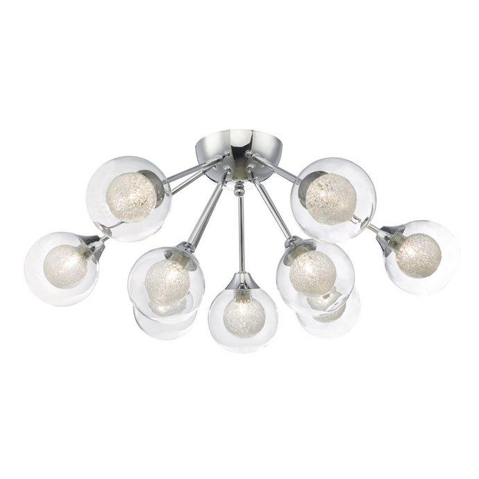 Blackheath Polished Chrome and Glass Semi-Flush Ceiling Light - ID 6854