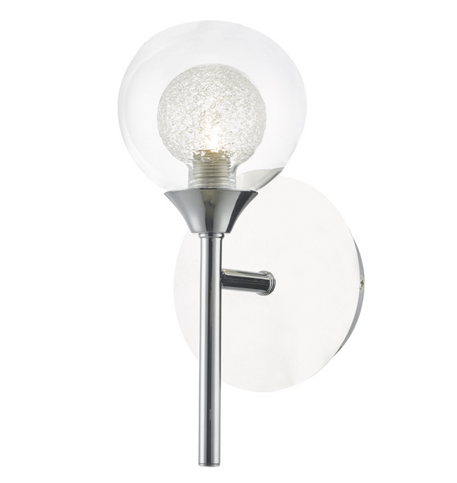 Blackheath Polished Chrome And Glass Wall Light - ID 6867