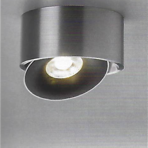 Hale Directionable Flush Ceiling Light in Matt Aluminium - ID 7423
