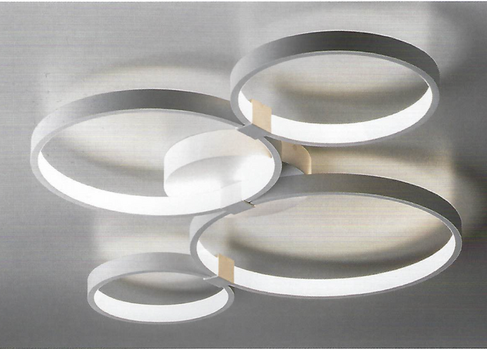 Four Ring Abstract Ceiling Light - ID 7424