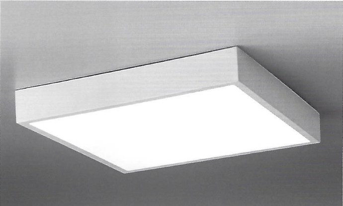Hannay Large Square Dimmable Flush Square Ceiling Light - ID 9927