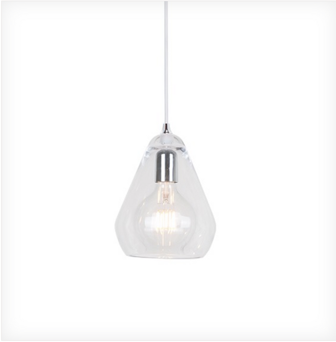 Large Clear Glass Pendant - ID 6602