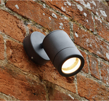 Aluminium Black Powder-Coated Adjustable Head Outdoor Wall Light - ID 5474