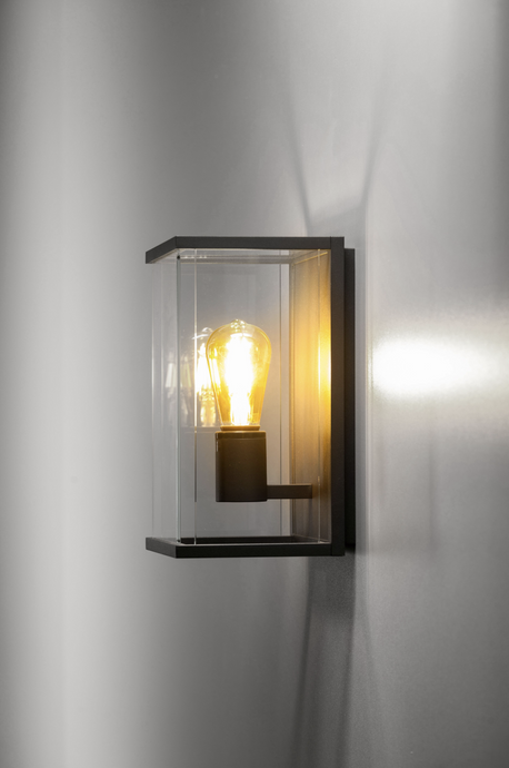 Modern Glass Panelled Exterior Wall Light - ID 6697