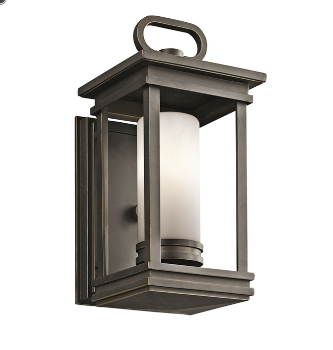 Customs House Rectangular Exterior Wall Lantern Finished In Bronze - ID 6746