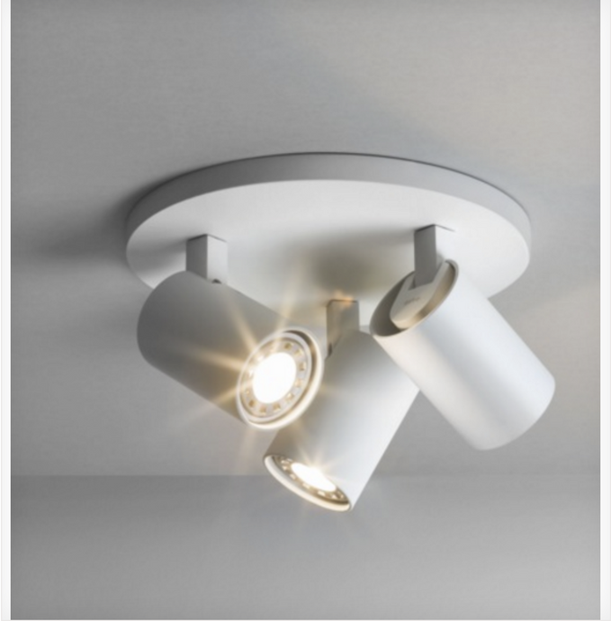 Cheam White Triple Head Spotlight - ID 6398