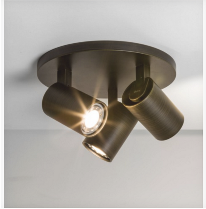Cheam Bronze Triple Head Spotlight - ID 6397