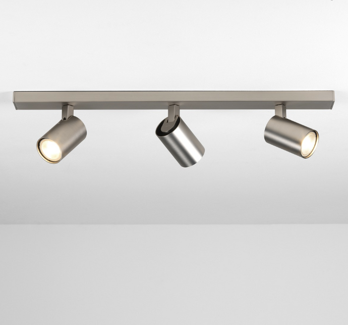 Cheam Matt Nickel Three Head Spotlight Bar - ID 7691