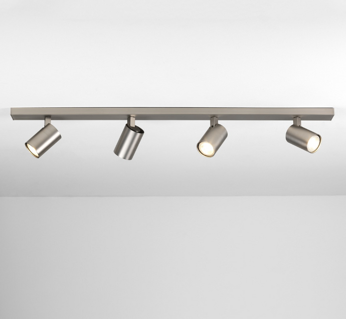 Cheam Matt Nickel Four Head Spotlight Bar - ID 7692