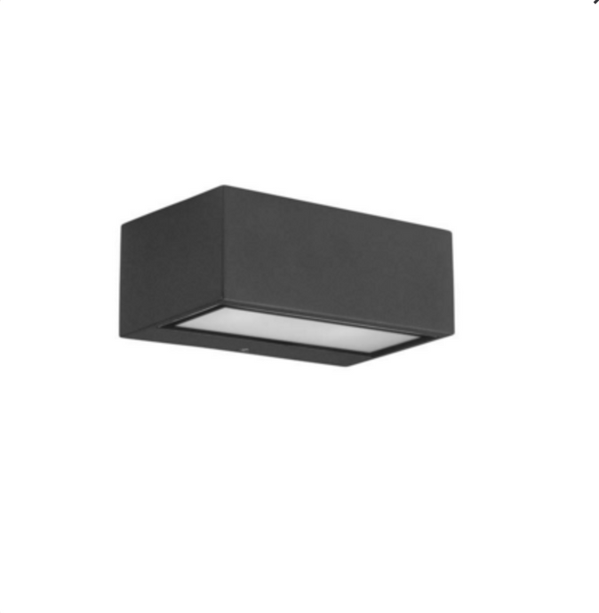 Dark Grey Exterior Led Wall Light - ID 6759