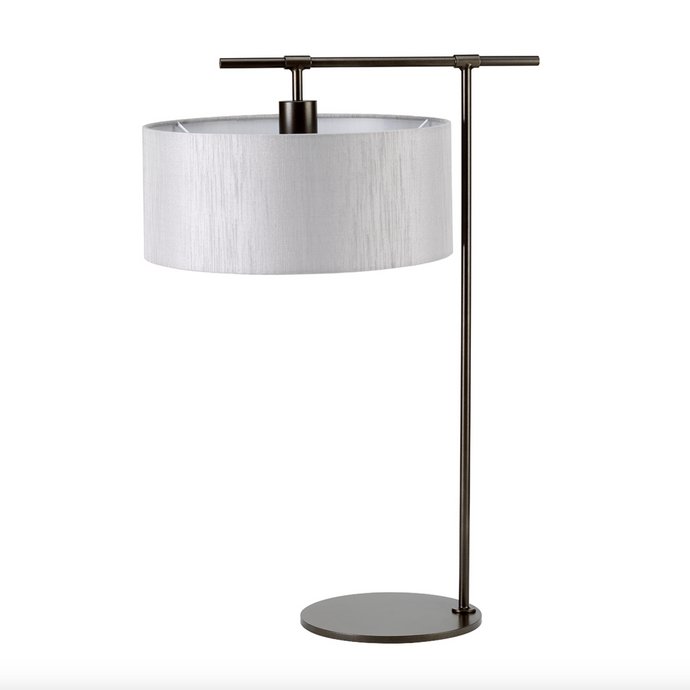 Climping Bronze and Grey Table Lamp - ID 8087
