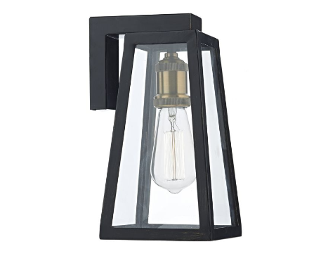 Middle Park Black Exterior Wall Light - ID 5939